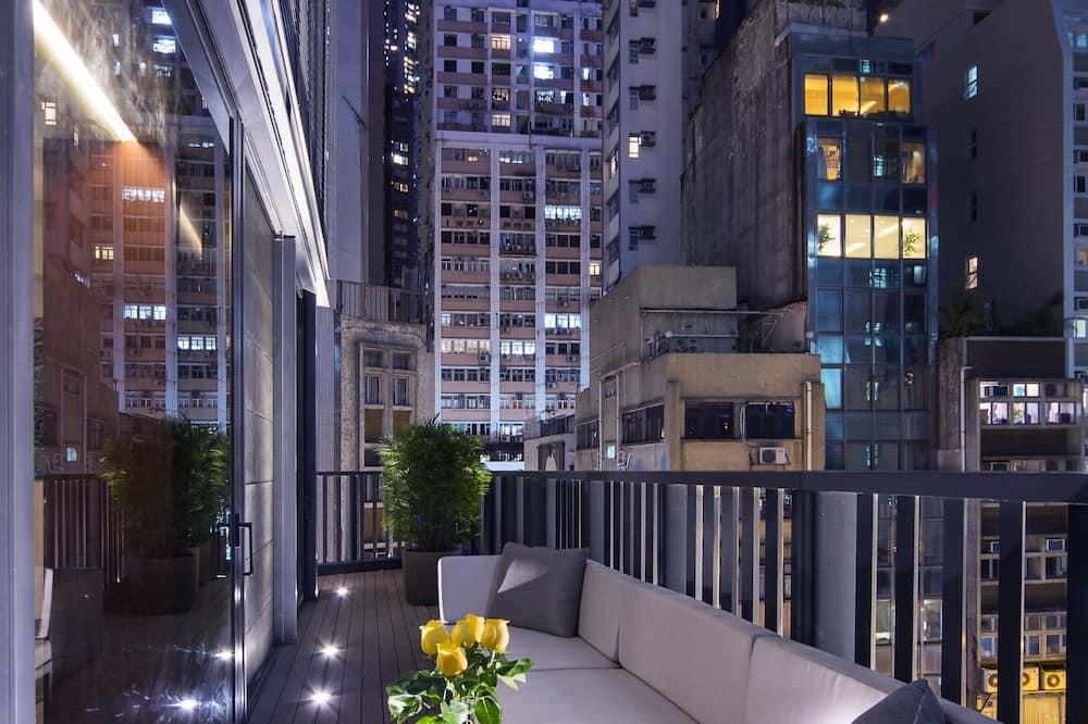 Apartmán, 1 extra veľké dvojlôžko, nefajčiarska izba, balkón - Výhľad na mesto