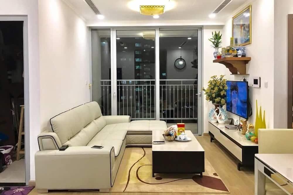 Apart Daire, 2 Yatak Odası, Bahçe Manzaralı - Oturma Odası