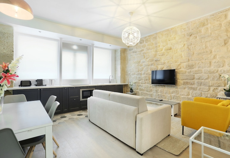 巴黎鐵塔戰神廣場住宅酒店 (展覽 1 號), 巴黎, 公寓, 1 間臥室, 客廳