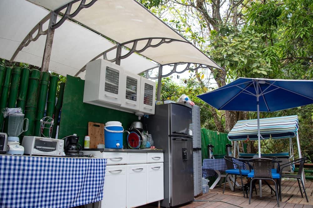 Tenda, 1 cama de casal, Casa de Banho Privativa (Fan) - Cozinha partilhada