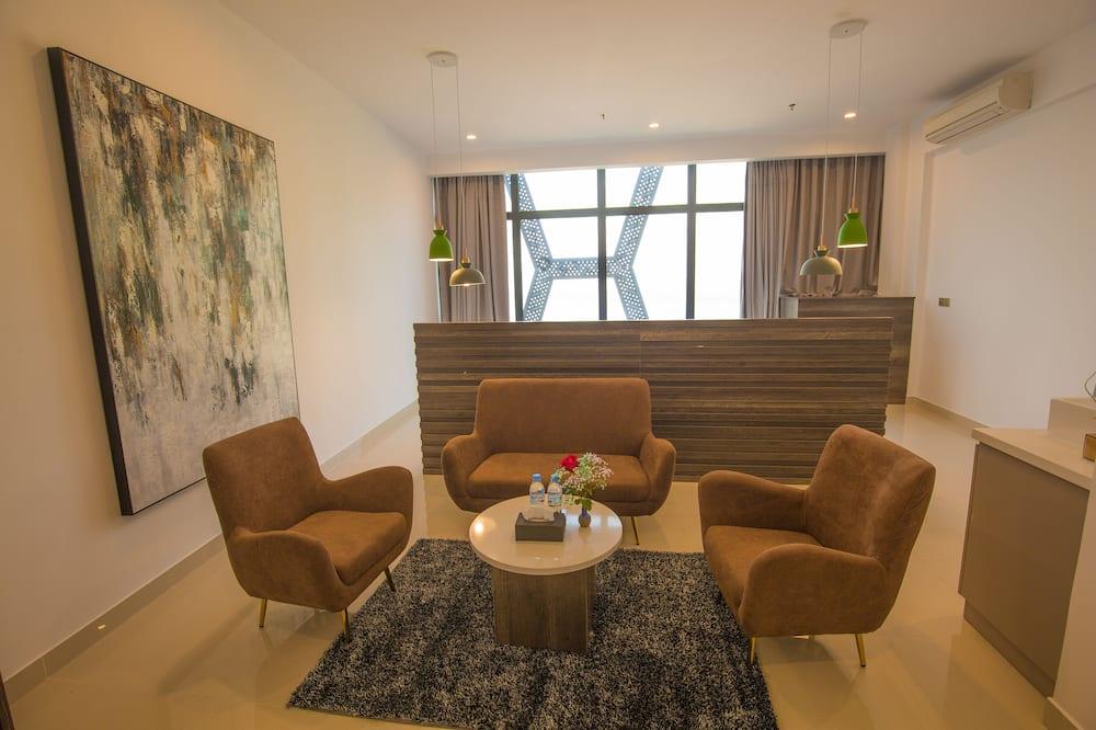 行政套房, 河景 (Deluxe) - 客廳