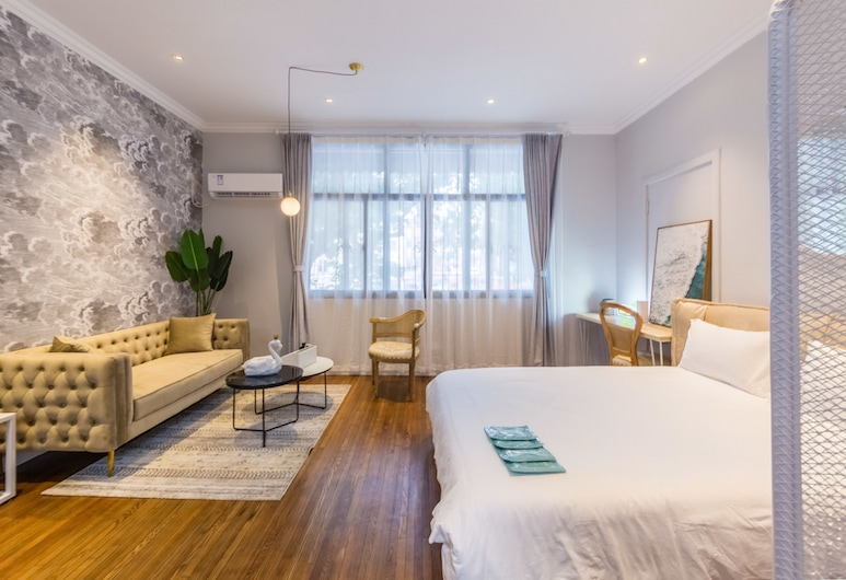Shanghai Moxi Inn Huaihai Rd No.5 Branch, Xangai, Quarto Duplo Deluxe, 1 Quarto, Não-fumadores, Cozinha, Interior do Hotel
