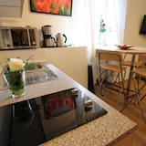 舒適公寓, 1 間臥室, 非吸煙房, 花園景 - 客房內用餐