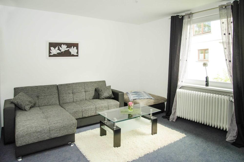 公寓客房, 1 間臥室, 非吸煙房, 河景 - 客廳