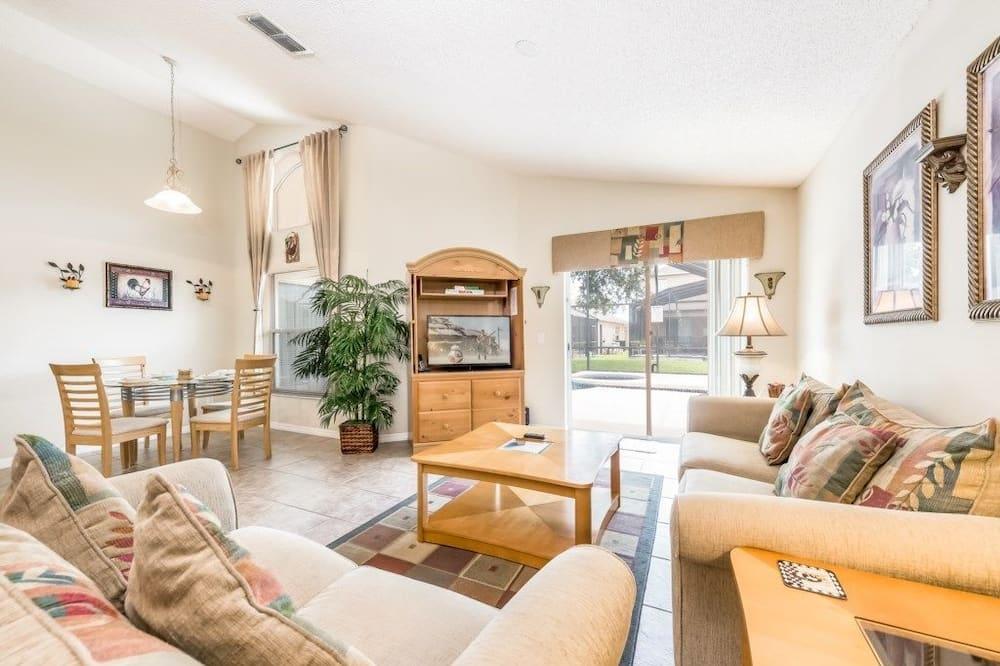 Casa, 4 habitaciones, piscina privada - Sala de estar