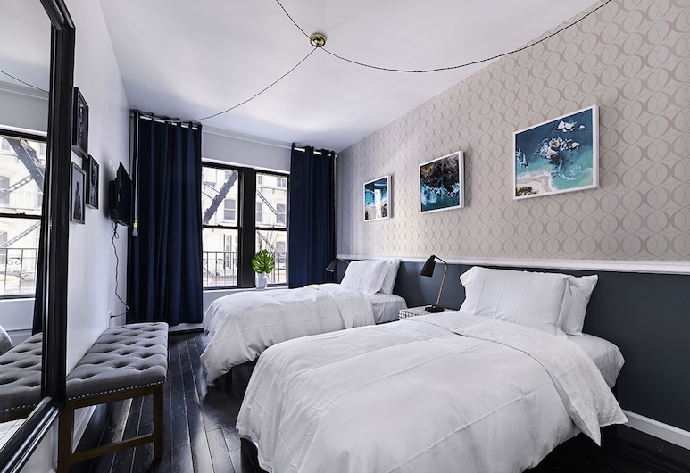 Nomad Design House, New York, Deluxe Apartment, Multiple Beds, City View, Guest Room