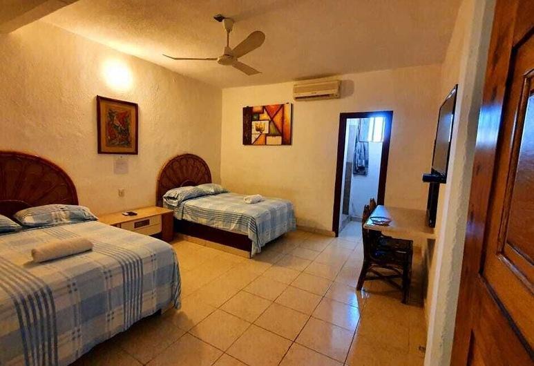 Hotel Club Diamante, Acapulco de Juárez, Habitación, 2 camas dobles, Habitación