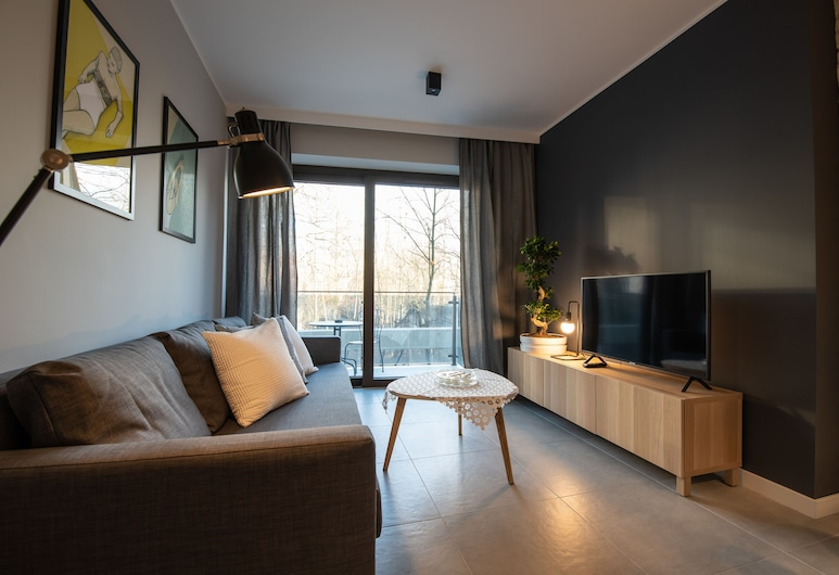 City Lights Apartments - Rakowicka 15, Krakow, Leilighet – city (1.7), Oppholdsområde