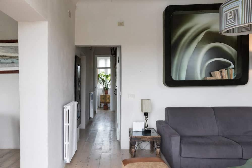 Apartmán, 2 spálne, terasa - Obývacie priestory