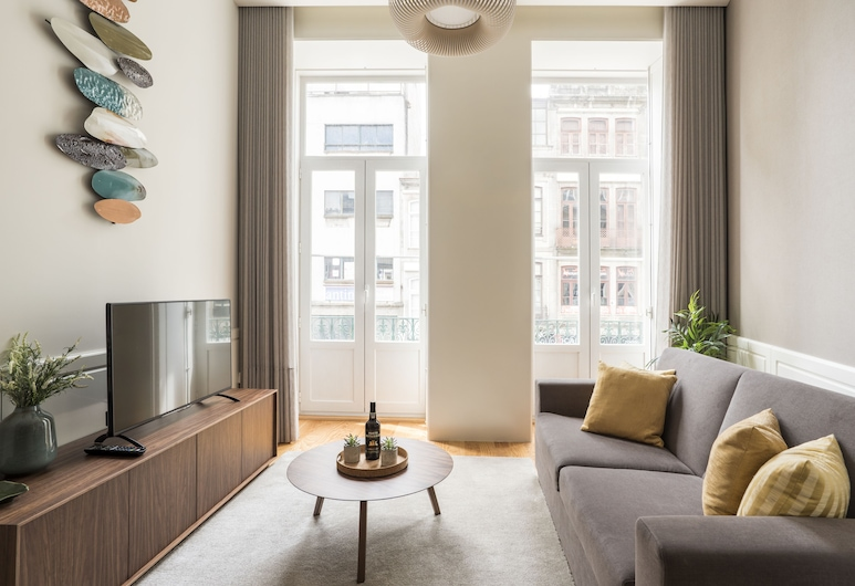 LIT Apartments 2 bedrooms at City center, Porto, Apartment, 2 Bedrooms, City View, Living Area
