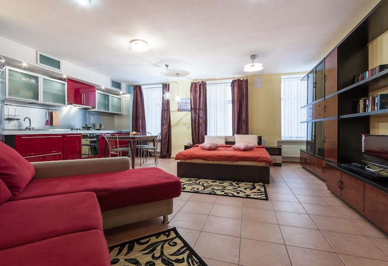 Mini-hotel Manej, Skt. Petersborg, Familie-studiolejlighed, Værelse