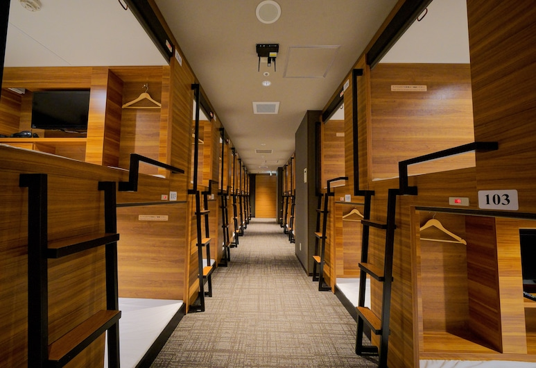 Hirosima no Oyado - Hostel, Hirošima, Štandardná izba (Men only, Capsule, Lower Bed), Hosťovská izba