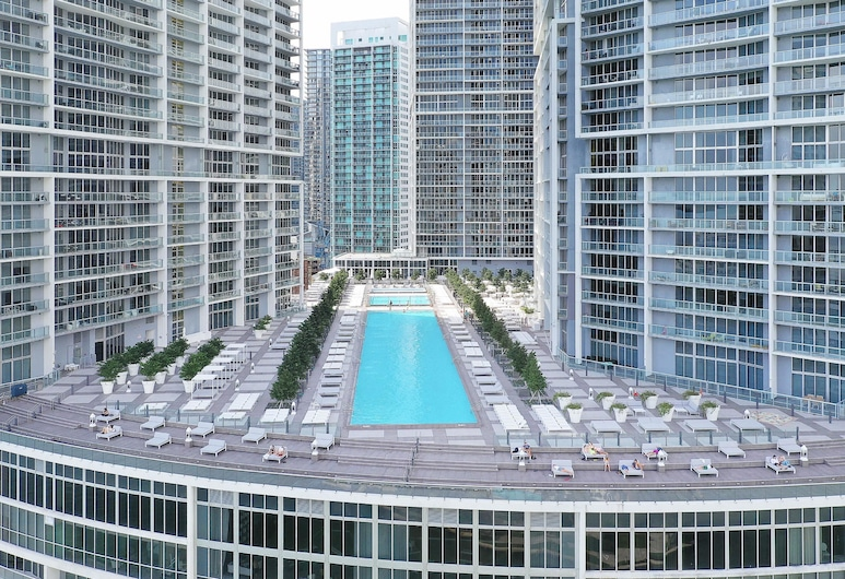 Miami World Rental - Iconbrickell 3210, Miami, Pool auf dem Dach