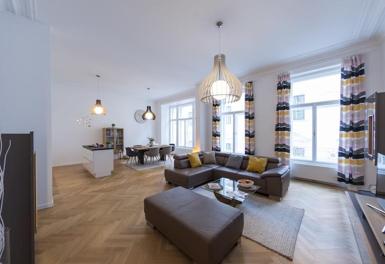 Singerstraße Luxury Apartment, Vienna, Appartamento Luxury, 3 camere da letto (incl. 80€ cleaning fee), Area soggiorno