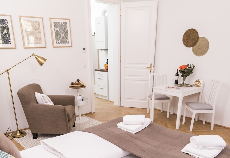 Heart of Ottakring by Welcome2Vienna, Viena, Estúdio empresarial, 1 cama Queen (incl. 40€ cleaning fee), Quarto