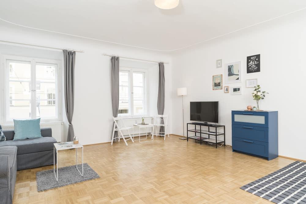 Apartamento Design, 1 Quarto, Vista Cidade (incl. 60€ cleaning fee) - Área de Estar