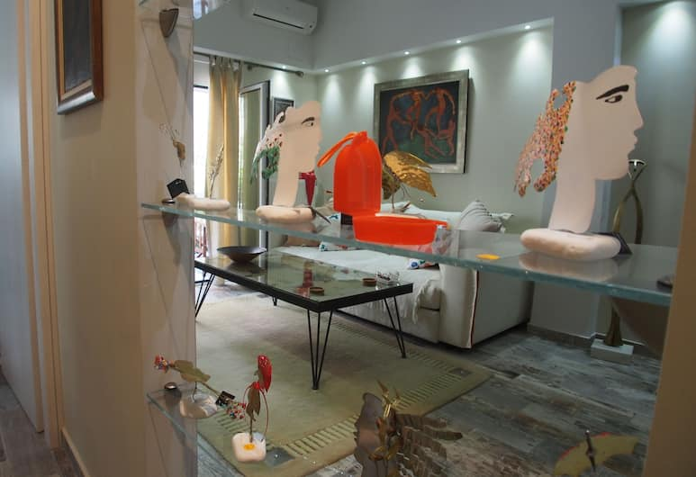Style Comfort 8min to Acropolis Museum , Atene, Appartamento, Area soggiorno