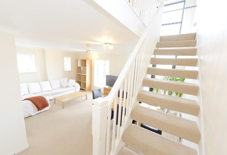 Excel Townhouse, Londres, Apartamento Deluxe, Vista Rio, Área de Estar