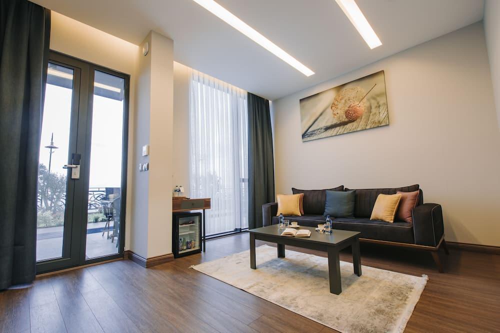 Premium Oda, Deniz Manzaralı, Bahçeli - Oturma Alanı