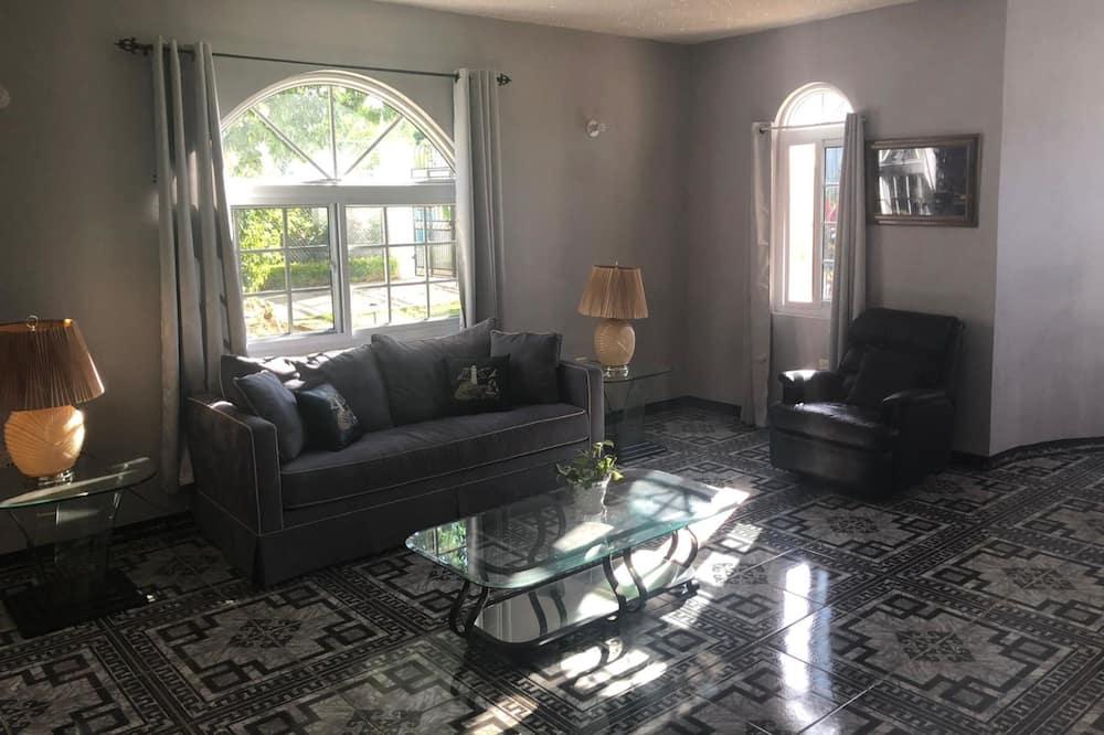 Elitni apartman, 1 queen size krevet i kauč na rasklapanje, za nepušače, pogled na vrt - Dnevni boravak