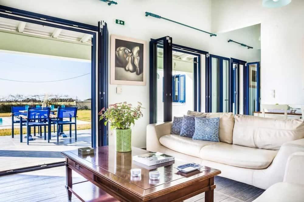 Villa, 2Schlafzimmer, eigener Pool - Wohnzimmer