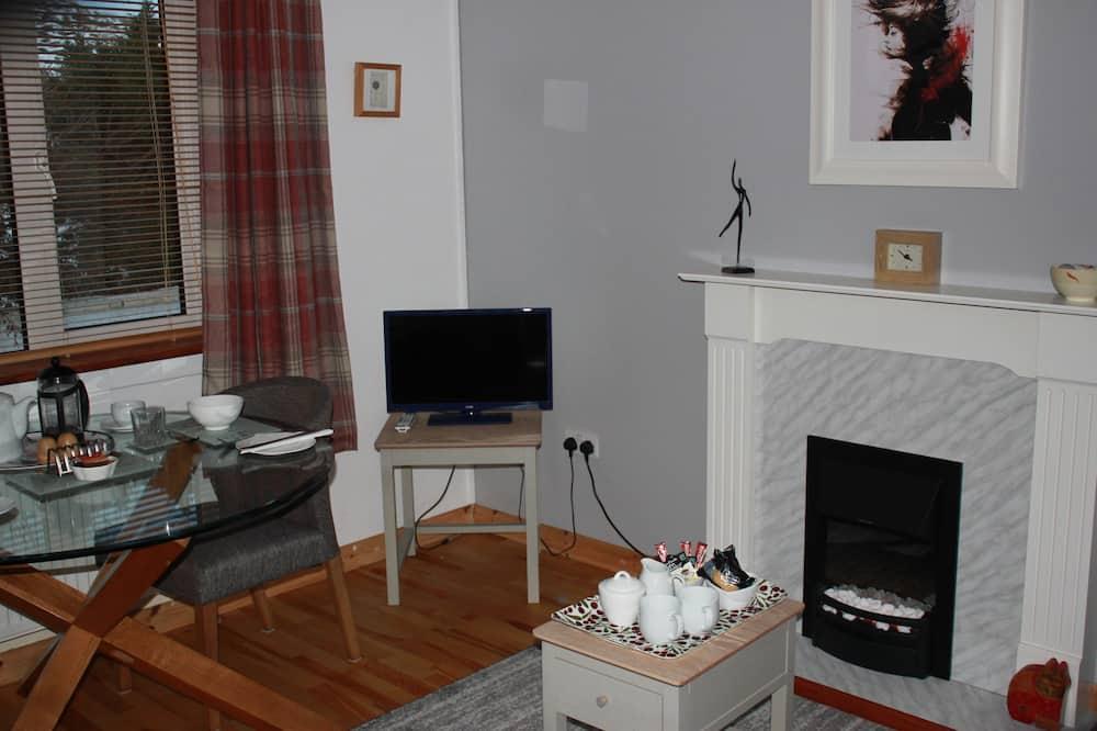 奢華公寓, 1 間臥室, 花園景觀 - 客廳