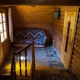 Family Cottage, 2 Double Beds, Non Smoking, Mountain View - Living Area