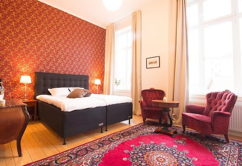 Lysekil City Rooms and Apartments, ליסקיל, חדר דה-לוקס זוגי, חדר אורחים