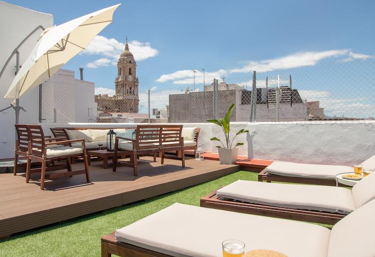 Luxury Terrace & Views Penthouse, Málaga, Lejlighed - 3 soveværelser - 2 badeværelser, Terrasse/patio