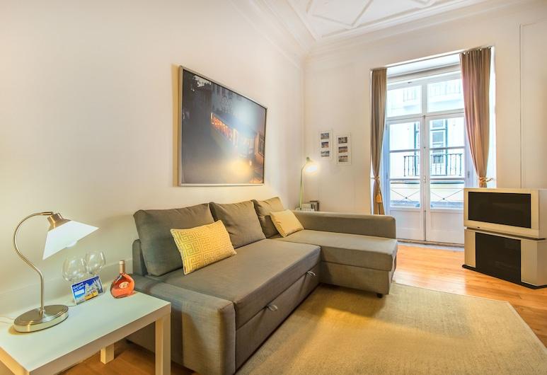 Chiado Balcony Apartment, Lisbon, Apartment, 1 Bedroom, Living Room