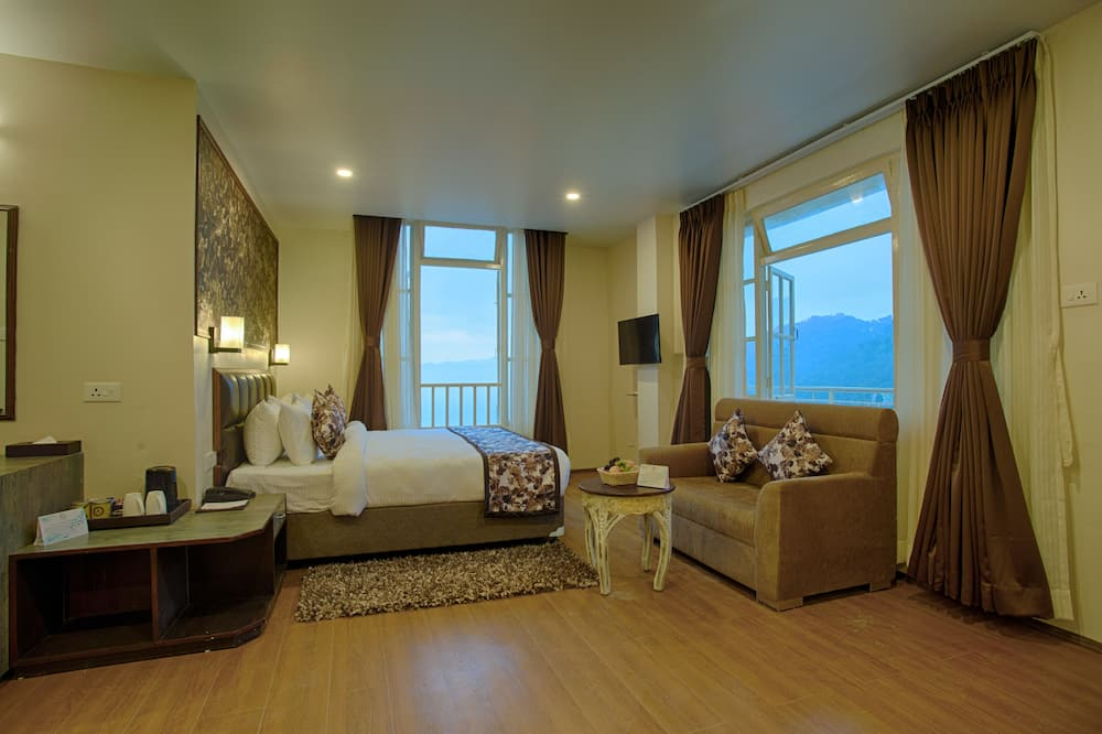 Deluxe-dobbeltværelse - 1 kingsize-seng - bjergudsigt - Værelse
