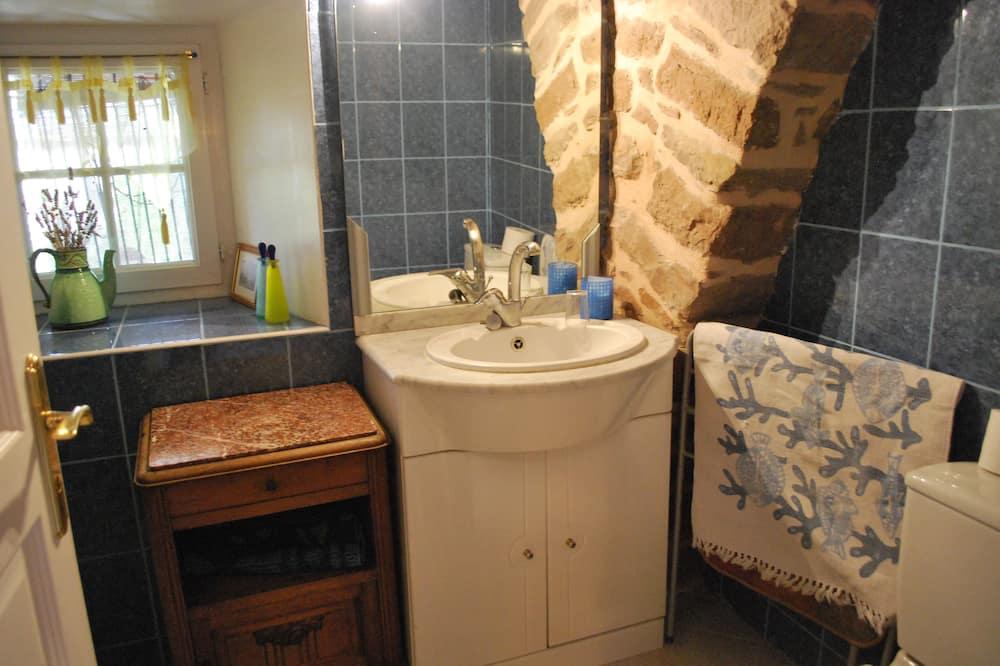 Dobbeltværelse - 1 dobbeltseng - parkudsigt - Badeværelse