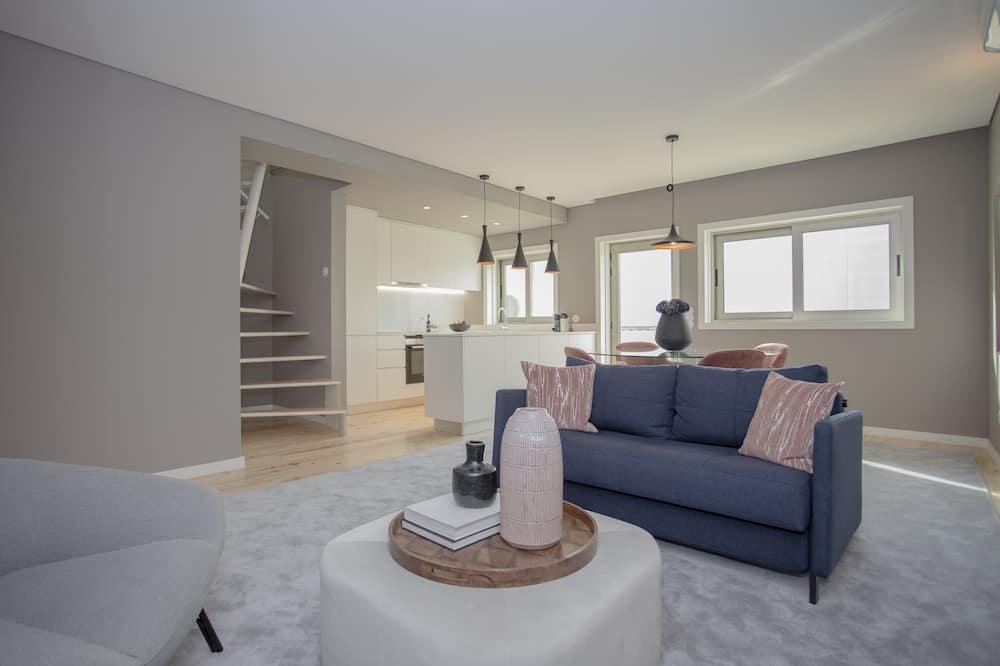 Penthouse, 2 habitaciones - Sala de estar