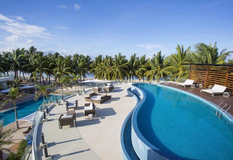 Aqua Boracay  , Boracay Island, Elnöki lakosztály, kilátással a tengerre (Ibiza), Kilátás az erkélyről