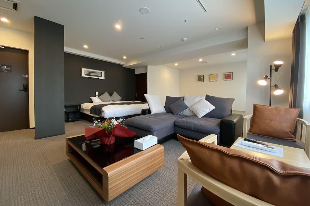 Presidential-Penthouse, Mehrere Betten, Stadtblick - Wohnbereich