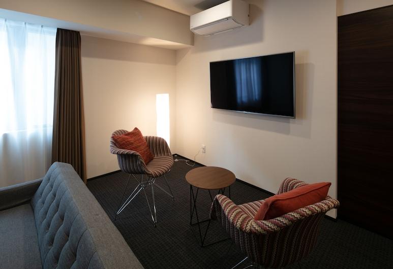ランドーレジデンシャルホテル札幌スイーツ, 札幌市, スーペリア スタジオスイート ベッド (複数台), リビング エリア