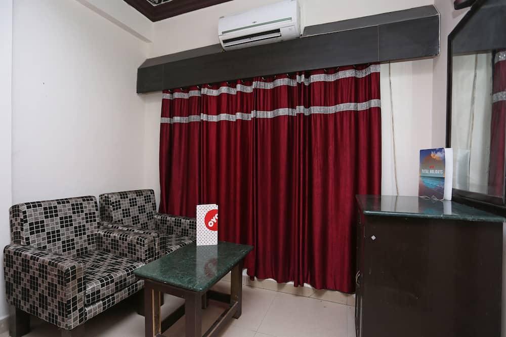 豪華雙人或雙床房, 1 張特大雙人床 - 客廳
