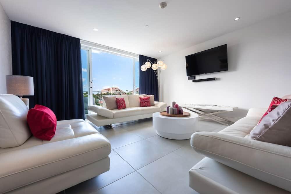 Luxury-Apartment, Mehrere Betten - Wohnzimmer