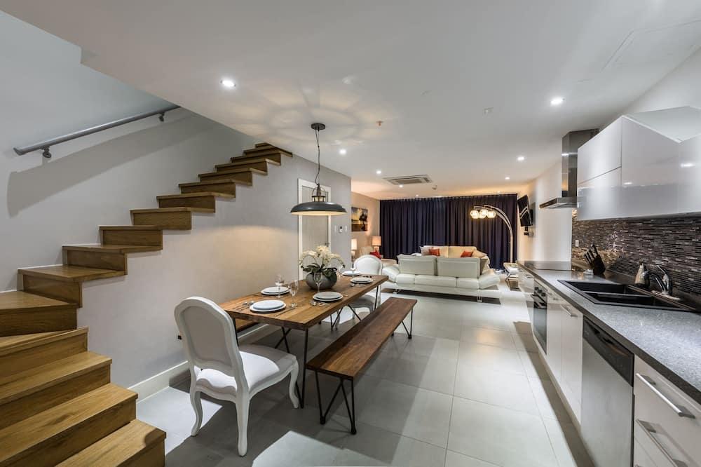 Luxury-Apartment, Mehrere Betten - Wohnbereich