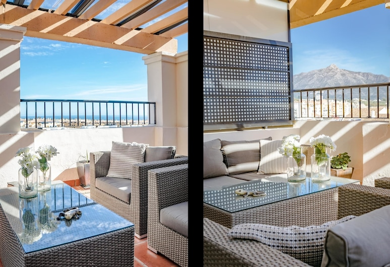 SGC- サン ペドロにある広々とした 3 ベッドルーム ペントハウス, マルベラ, アパートメント 3 ベッドルーム, テラス / パティオ
