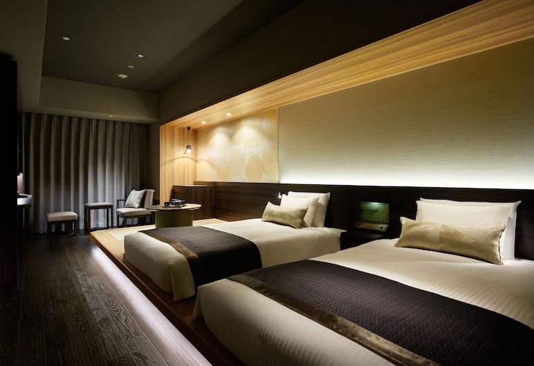 Mitsui Garden Hotel Ginza-gochome, Токио, Двухместный номер «Делюкс» с 2 односпальными кроватями, для некурящих, Номер