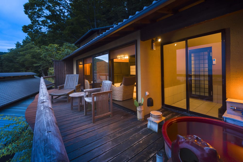 Japanese Western Style Room with Private Open-air Bath, Ocean View - Balcony