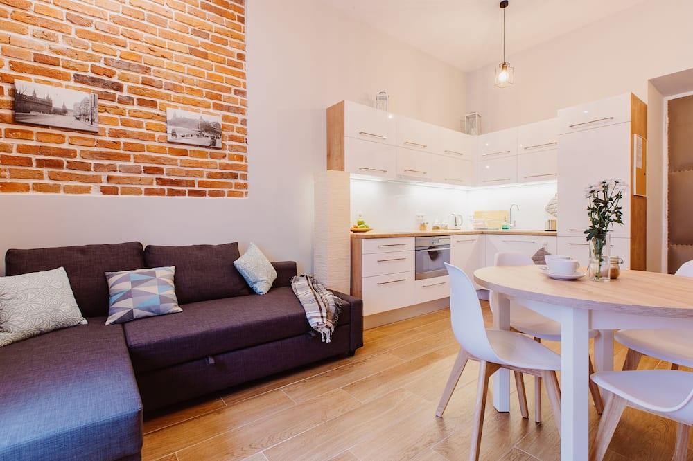 Appartamento Grand, non fumatori, angolo cottura (2) - Area soggiorno