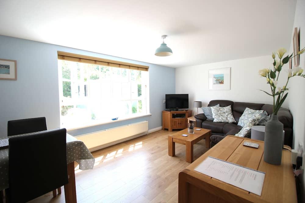 Luxury Apartment, 2 Bedrooms (Gyllyngvase Apartment) - Living Area