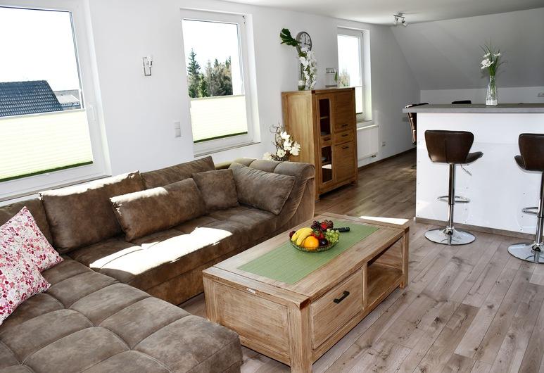 Zimmermanns Lounge, Monschau, Apartamento Standard, 2 Quartos, Vista Cidade (Zimmermanns Lounges 6), Área de Estar
