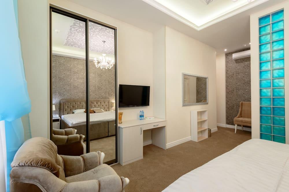 Habitación doble Prestigio, 1 cama King size, para no fumadores, antialérgico - Sala de estar