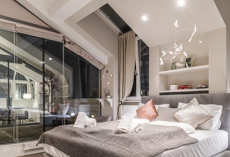 Rooftop Suite Börse by Welcome2Vienna, Wenen, Exclusief appartement, 2 slaapkamers, Balkon, Uitzicht op de stad (incl. 80€ cleaning fee), Kamer