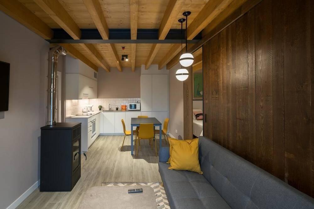 apartman, 2 hálószobával, mozgássérültek számára is hozzáférhető, terasz (2) - Nappali rész