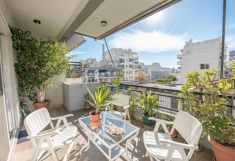 Vintage Acropolis Apartment, Atenas, Apartamento urbano, 2 quartos, Varanda