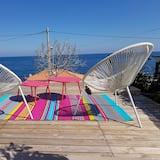 Apartmán typu Comfort, 1 dvojlôžko s rozkladacou sedačkou, výhľad na more - Terasa